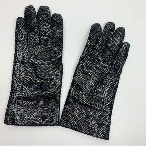 Wilson's Leather Snakeskin Metallic Gloves